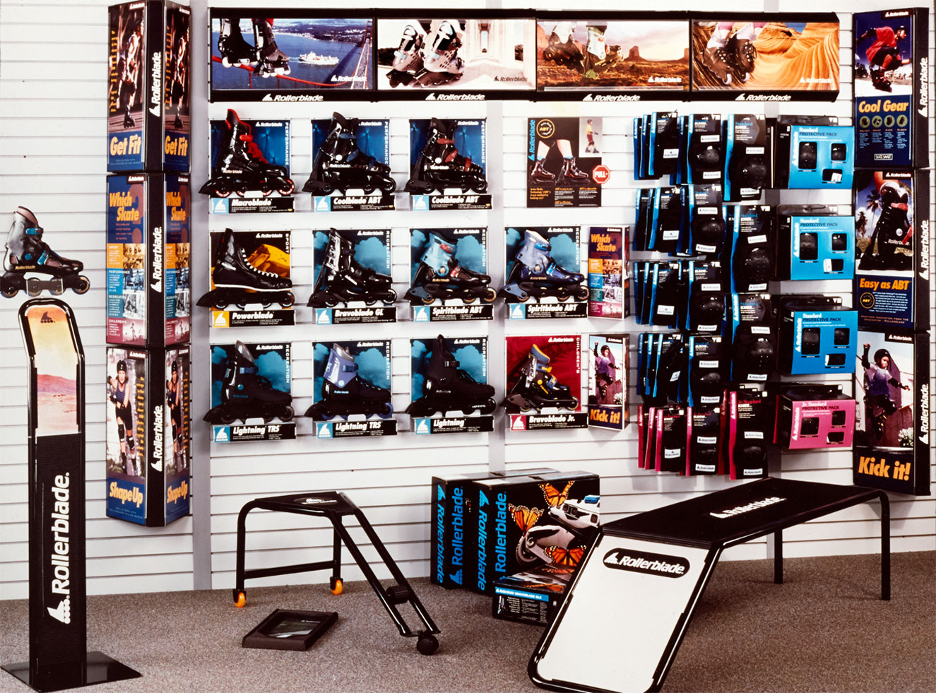 Rollerblade in-store packaging display